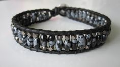 chan luu men's bracelet diy craft faceted nuggets snowflake obsidian - https://www.facebook.com/diplyofficial