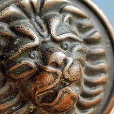 2 vintage metal door handles... lions...  Home by CoolVintage, $18.50
