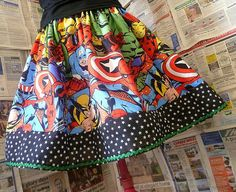 Marvel Avengers Dress, Womens Skirt, Ladies Clothing by Roobys