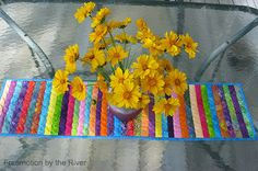 Freemotion by the River: Summer Table Runner fast and easy to make! I conniekresin.com
