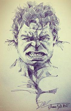 Art drawings Avengers, Samuel L. Marvel Avengers, Marvel Art, Marvel Comics, How To Draw Avengers, Comic Kunst, Comic Art, Hulk Sketch, Avengers Drawings, Hulk Art