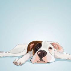 Learn how a talented designer creates custom pet portraits. I would love a portrait of my dog!