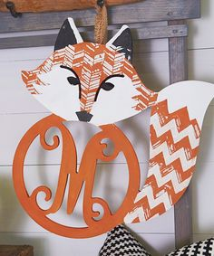Take a look at this Unfinished Fox Initial Wall Art today!