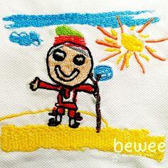 #bewee #embroidery #bordadospersonalizados #broderiepersonnalisee #kidsart #kidsdrawings #kinderzeichnung #family #presentescriativos #prendasoriginais www.Bewee.pt