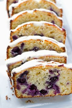 Lemon Blueberry Bread - A moist lemon poundcake studded with fresh juicy and plump blueberries!
