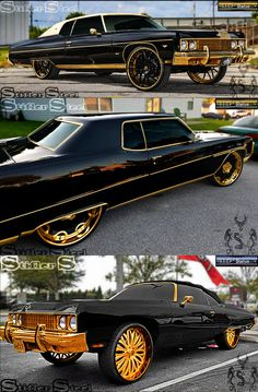 All Star Triple Threat - Golden Finish (Illustration) Muscle Cars, Pimped Out Cars, Donk Cars, Old School Cars, Best Luxury Cars, Sexy Cars, Amazing Cars, Impala, Buick