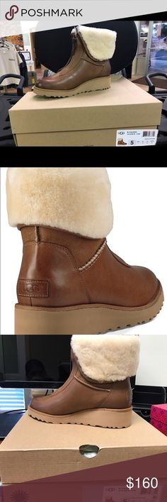 UGG® Caleigh Booties 5M Chestnut- New with Box Brand new UGG® Caleigh Booties 5M Chestnut color UGG Shoes Ankle Boots & Booties