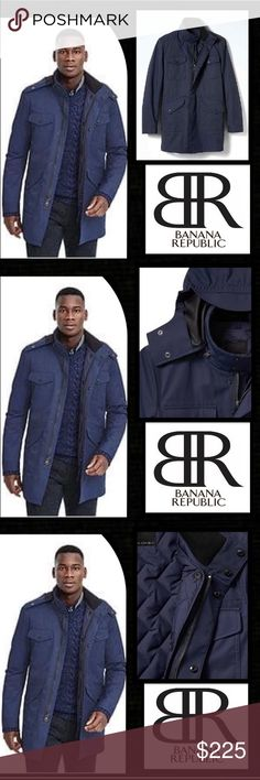 Trench Coat Don't worry about the weather in our water-resistant field jacket. You'll stay comfortably dry in the rain or snow.Snap the mock neck,cinch the waist and adjust the cuffs Hidden zipper snap placket. Hidden hood.A cotton&nylon blend exterior there are four front snap pockets.Internally there is a stiching that gives the lining a quilted effect Hints of military influence has made its way onto several high fashion collections within the last year.Hidden drawstring great layering…
