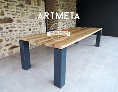 table repas PANORAMA - ARTMETA / Tables métal et bois