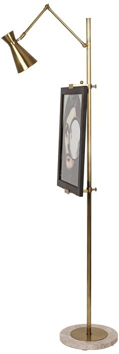 Jonathan Adler Bristol Floor Lamp Easel in Antique Brass -