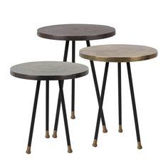 Set 3 tables d'appoint vintage Alim DRAWER