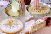 The famous Torta Della Nonna, a stuffed Italian cake. Italian Cake, Italian Desserts, Sweet Recipes, Cake Recipes, Delicious Desserts, Yummy Food, Sweet Pastries, Sweet Pie, Desert Recipes