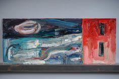 Teemu Saukkonen: Talo myytävänä, 1989, öljy metallilevylle, 20x50 cm - Huutokauppa Helander 10/2015 Finland, Contemporary Art, Painting, Painting Art, Paintings, Painted Canvas, Drawings, Modern Art, Contemporary Artwork