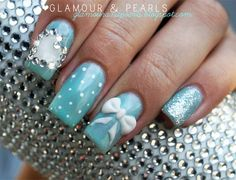 Tiffany inspired nails