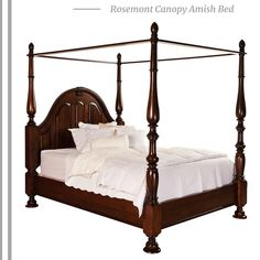 Amish Melbourne Canopy Bed Luxurious and comforting, the Melbourne is one exquisite canopy bed. Select wood and finish and Amish craftsmen build your dream bed. Traditional Furniture, Classic Furniture, Furniture Styles, Furniture Ideas, Furniture Vintage, Furniture Online, Fine Furniture, Discount Furniture, Luxury Furniture