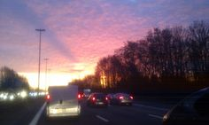 file E40 - Gent -> Brussel From Dusk Till Down, Celestial, Sunset, Outdoor, Outdoors, Sunsets, Outdoor Games, The Great Outdoors, The Sunset