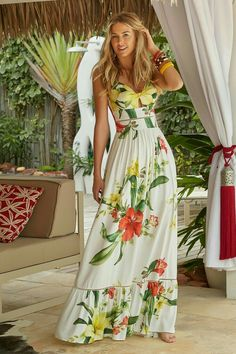 Best Summer Fashion Part 10 Mode Outfits, Dress Outfits, Casual Dresses, Fashion Dresses, Floral Fashion, Boho Fashion, Fashion Looks, Estilo Fashion, Vintage Fashion