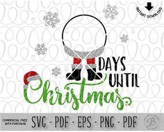 Countdown svg Christmas SVG Santa svg santa countdown days