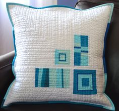 'A Touch of Blue' pillow by shecanquilt