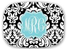 monogrammed serving platters sweet juniper designs products
