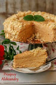 Biały Napoleon - kajmak i kremówka Napoleon Cake, Cookie Recipes, Dessert Recipes, Polish Desserts, Different Cakes, Dessert Decoration, Specialty Cakes, No Bake Cake, Love Food