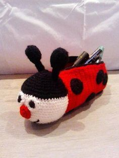 Amigurumi pattern crochet case by BabyRockLiz on Etsy, Diy Crafts Crochet, Crochet Gifts, Crochet Projects, Crochet Pencil Case, Crochet Case, Crochet Panda, Crochet For Kids, Crochet Handbags, Crochet Purses