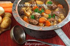 Traditional Irish Stew Recipe, Tried this one tonight, I received many compliments at a church pot-luck. It was a wonderful savory stew. Highly recomended