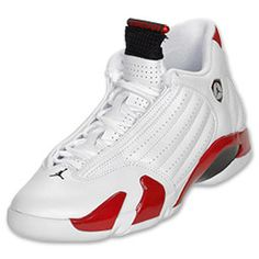 Air Jordan 14 Retro Candy Caine White Black Red shoes