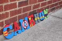Avengers/Marvel Wooden Letters by BASECreations on Etsy                                                                                                                                                                                 Mais