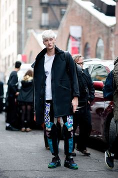 Street Style: Benjamin Jarvis, NY /shoes adidas by RAF SIMONS | Fashionsnap.com