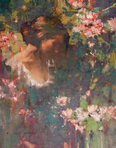 ⊰ Posing with Posies ⊱ paintings & illustrations of women & children with flowers - Michael Dudash.