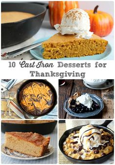 Break out your cast iron skillet & bake up a dessert that is meant to be shared with one of these 10 Cast Iron Dessert Recipes for Thanksgiving.