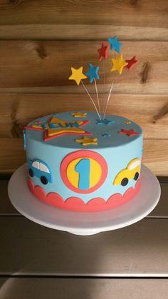Autokuchen - New Ideas Birthday Cake Kids Boys, Elmo Birthday Cake, Twin Birthday Cakes, 1st Year Cake, Fake Cake, Cakes For Boys, Cake Designs, Cake Toppers, Cupcake Cakes