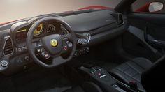 Ferrari 458 Interior, rendered in KeyShot by Tim Feher.