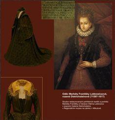 1617 Czech dress, cloak, and portrait of Marketa Lobkowicz