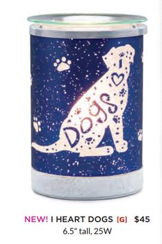 I Heart Dogs Scentsy Warmer. New for Scentsy Spring/Summer 2017. Order online or preorder at my website!