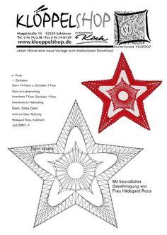 Estrella Crochet Motif, Crochet Lace, Doily Art, Bobbin Lacemaking, Embroidery Cards, Bobbin Lace Patterns, Crochet Snowflakes, 3d Snowflakes, Lace Heart