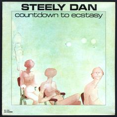 """#Countdown #to #Ecstasy was written and recorded in rushed sessions between live concerts and produced two Billboard Hot 100 hits, """"Show Biz Kids"""" and """"My Old School"""". The cover art originally included only the three pink figures seated up front, but because there were five members of #Steely #Dan, the two ghostly figures to the left were added by the record company to balance it out. #SteelyDan #CountdownToEcstasy #Vinyl #LP"""