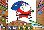 Juego de Santa Coloring Book | JUEGOS GRATIS: En esta navidad diviertete coloreando diferentes escenas de Santa y sus ayudantes, usa toda tu imaginacion y combina los mejores colores para que las imagenes de Santa y sus amigos queden fabulosas.