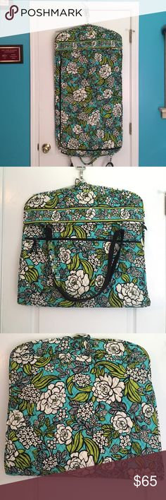 Vera Bradley garment bag Carry around your clothes in style with this like new, Vera Bradley garment bag.  Offers welcome! Vera Bradley Bags Travel Bags