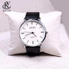 KEVIN KV Fashion Cpuple Watch Leather Men Women Watches Students Gift Present Simple Quartz Wrist Watch Girls Boys Dropshipping Boys Watches, Cheap Watches, Sport Watches, Black Watches, Women's Watches, Wrist Watches, Mens Watches Leather, Leather Men, Vintage Watches For Men