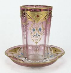 Antique Moser Jeweled glass