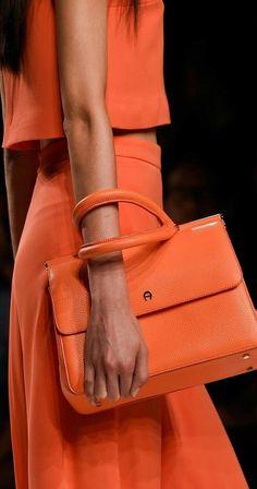 Aigner Spring 2016 ~ Milan Fashion Week - all orange luxury fashion Orange Outfits, Orange Is The New Black, Mode Orange, Orange Aesthetic, Orange You Glad, Orange Fashion, Orange Crush, Looks Style, Burnt Orange