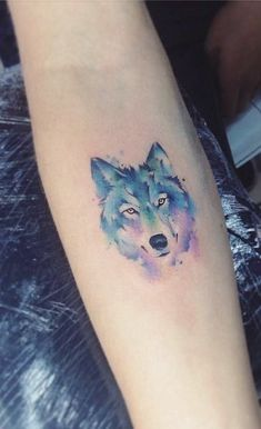 50 Of The Most Beautiful Wolf Tattoo Designs The Internet Has Ever Seen - KickAss Things - watercolor wolf tattoo by Adrian Bascur - Wolf Girl Tattoos, Wolf Tattoos For Women, Sleeve Tattoos For Women, Tattoo Designs For Women, Tattoos For Guys, Wolf Pack Tattoo, Small Wolf Tattoo, Wolf Tattoo Sleeve, Disney Couple Tattoos