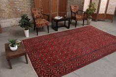 """Turkish Vintage Rug Oriental Bohemian Housewarming Gift Rag Rug, 6'1"""" x 10'2"""", Code: 070688 large rug Geometric Rug, Tribal Rug, Large Rugs, Small Rugs, Oriental Rug, Rugs In Living Room, Living Room Decor, Vintage Rugs, Rugs Online"""