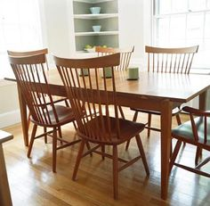 Shaker Furniture is so functional and clean. I love how this table could be modern or country.
