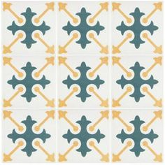EliteTile Artisanal x Ceramic Field Tile in Damero Azul
