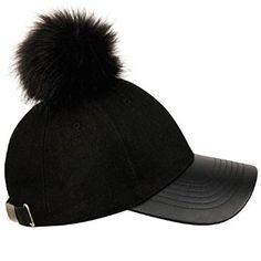 Designer Clothes, Shoes & Bags for Women Black Pom Pom Hat, Faux Fur Pom Pom, Black Baseball Cap, Baseball Hats, Cat Headband, Headbands, Fashion Eye Glasses, Pikachu, Caps Hats