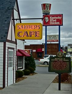 The original Sanders Cafe in Corbin, Kentucky - had a great lunch; loved the museum displays - September 7, 2017