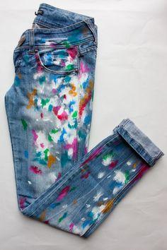 como pintar pantalones jeans - Buscar con Google